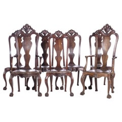 Five Chairs and Two Armchairs Portuguese of the 18th Century