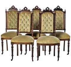 Five Portuguese Romantic Chairs 19th Century