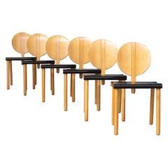 70s Gigi Sabadin 'fiona' Chair for Crassevig Set/6