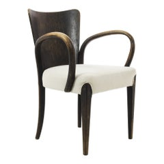 H-214 Mid-Century Upholstered Armchair by Jindrich Halabala