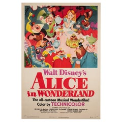 Alice in Wonderland 1951 US 1 Sheet Film Poster, Disney