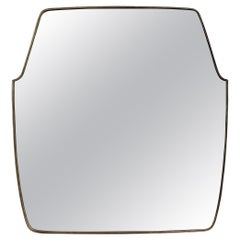 Mid-Century Italian Wall Mirror with Brass Frame 'circa 1950s', Large