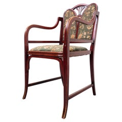 Bentwood Armchair by Thonet, Beech and Fabric, 1930s