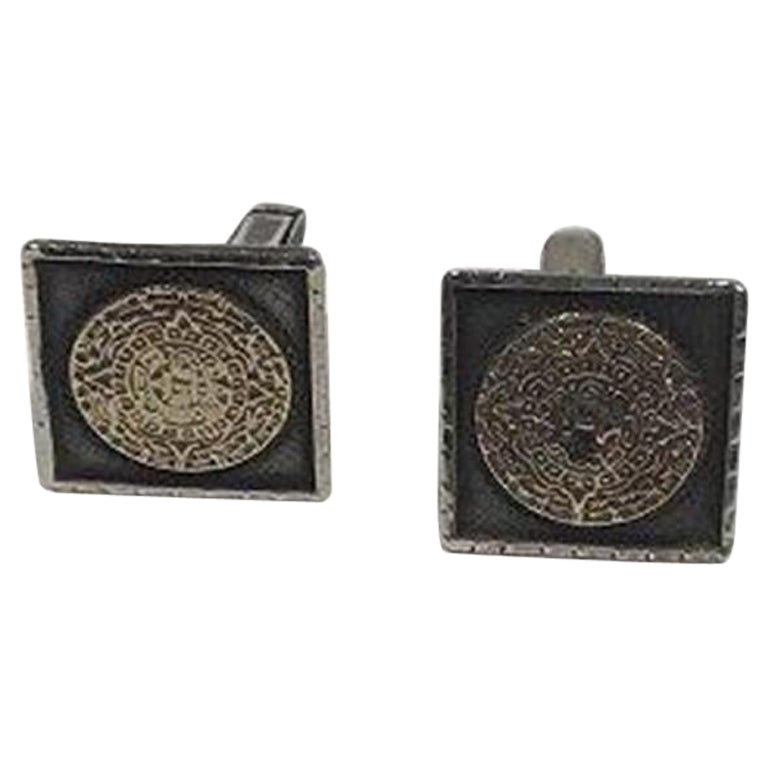 Mexico Sterling Silver/Gold Cuff Links