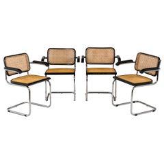 Marcel Breuer, Series of Four Cesca Armchairs, 1970's