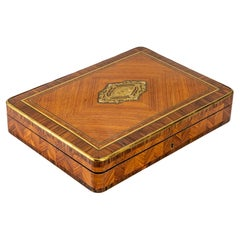 Rose and Violet Wood Box, Louis XV Style