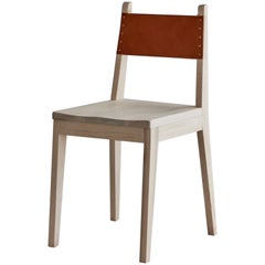 Modern No. 24 Chair in Maple and Tan Harness Leather