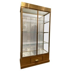 1950s Handsome Brass Display Cabinet-Jewellery Store France