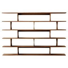Richard Watson Wall-Mounted Shelves in Walnut, Customizable