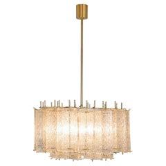 Elegant Chandelier in Brass and Glass