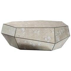 Three Rocks Low Coffee Table, Aged Mirror, InsidherLand by Joana Santos Barbosa