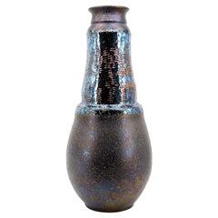 Huge Disco Stoneware Vase, 1980s