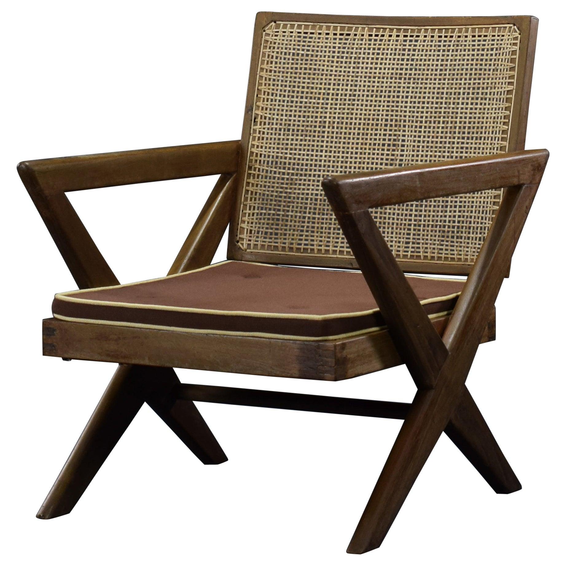Pierre Jeanneret X-Easy Armchair Authentic Mid-Century Modern Chandigarh