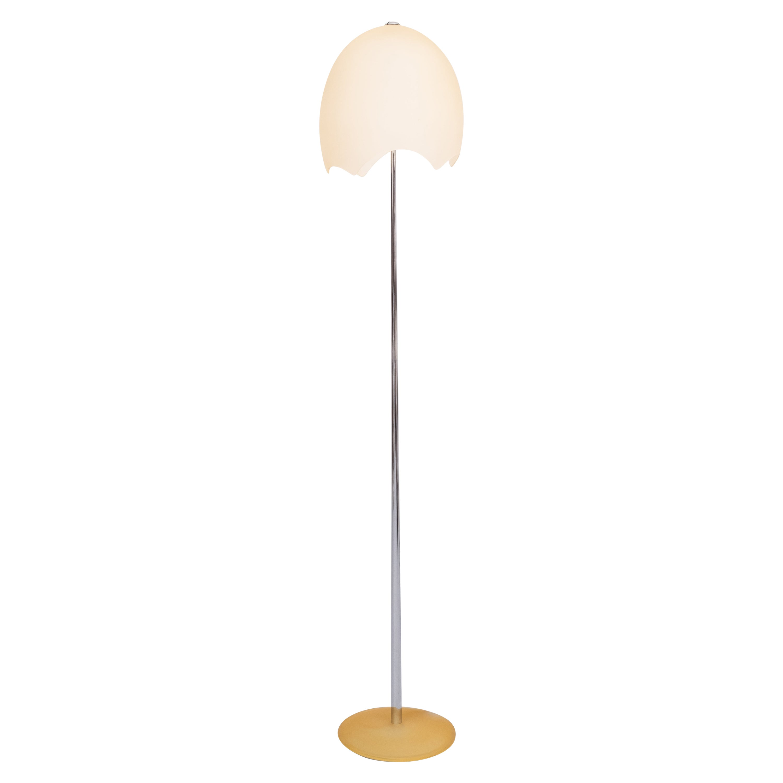 Floor Lamp Eggshell Shade, 1980s