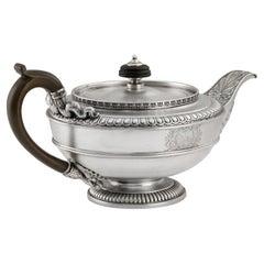Paul Storr, A George III Teapot Made in London in 1810 by Paul Storr
