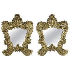 Italian Rococo Brass Repousse Mirrors