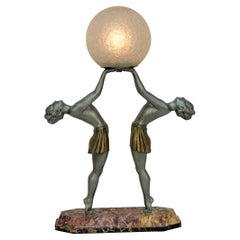 French Art Deco Figural Table Lamp