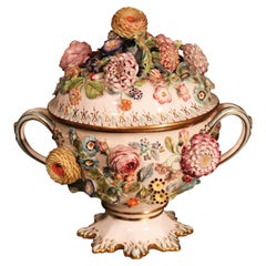 Mid 19th Century Porcelain Coalport Coalbrookdale Tureen and Cover