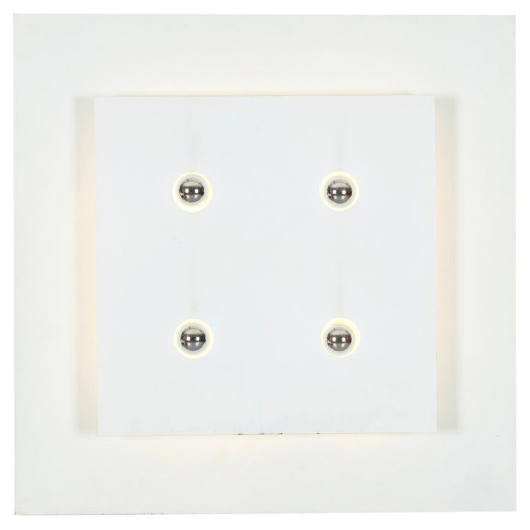 Fabrizio Cocchia & Gianfranco Fini Screen Wall Light, New Lamp Co., Italy, 1970