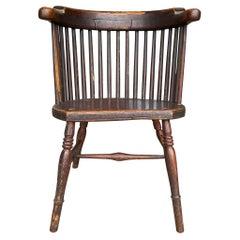 19th Century English Barrelback Windsor Chair