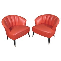 Pair of Mid-Century Barrel Chairs