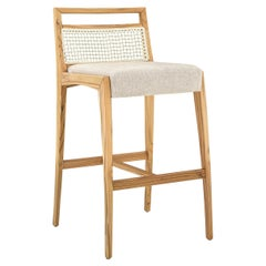 Sotto Counter Stool Ivory Fabric