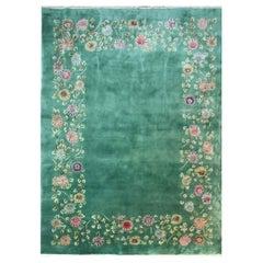 Antique Art Deco Chinese Carpet, Wedding Rug