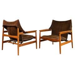 """Pair of 1960's Mid Century Swedish """"Kinna"""" Armchairs by Hans Olsen"""