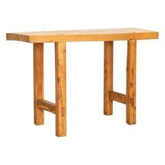 Vintage Slab Wood Console Table