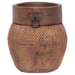 Chinese Rimmed Fisherman's Basket, circa 1900