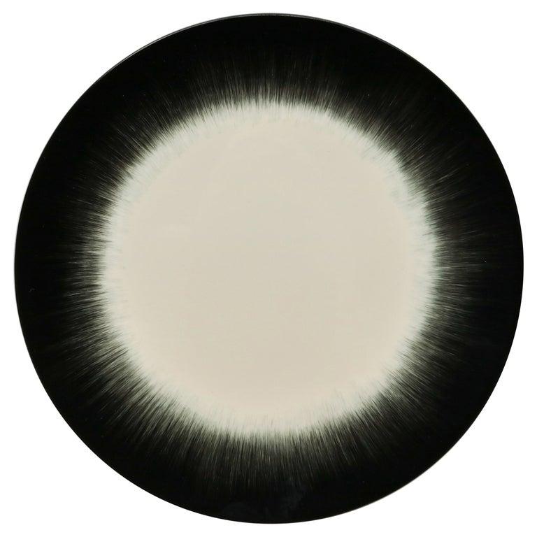 Ann Demeulemeester for Serax Dé Dinner Plate in Off White / Black