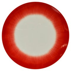 Ann Demeulemeester for Serax Dé Dinner Plate in Off White / Red