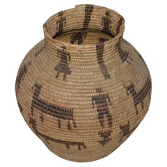 Early 20thc Pictorial Pima Indian Basket