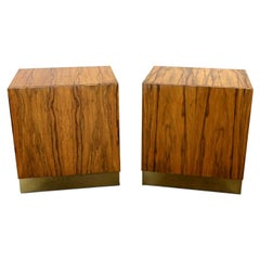 Vintage Modern Rosewood Pair Cube Nightstands by Milo Baughman for Thayer Coggin