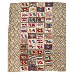 Antique Flag Flannel Quilt with Paisley Backing