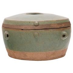 Chinese Celadon Green Kitchen Vessel, c. 1900