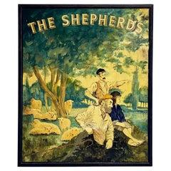 "English Pub Sign, ""The Shepherds"""