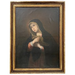18th Century Italian Old Master, Large Emilian School Painting, Weeping Madonna