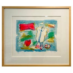 Color Lithograph by Claes Oldenburg, ca 1973