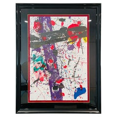 Sam Francis Large Color Lithograph SF 272 Hand Signed Modern Abstract Framed Art