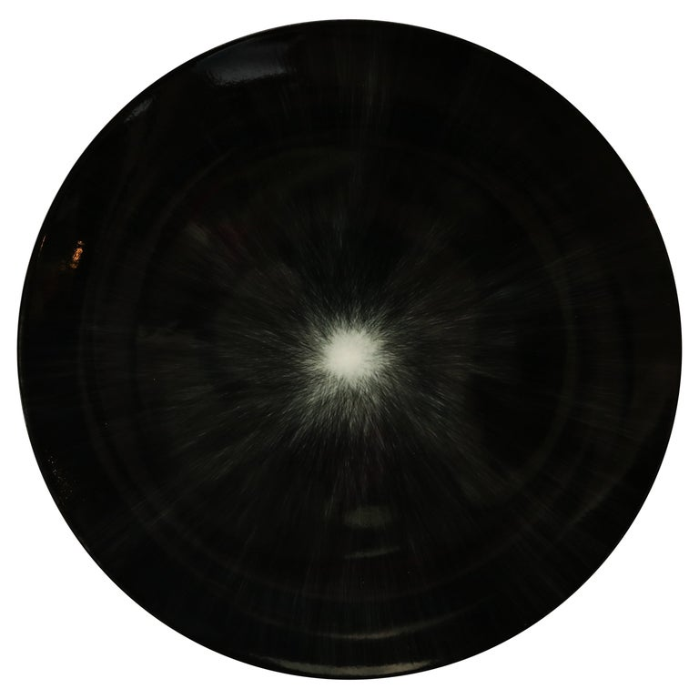 Ann Demeulemeester for Serax Dé Dinner Plate / Charger in Black / Off White