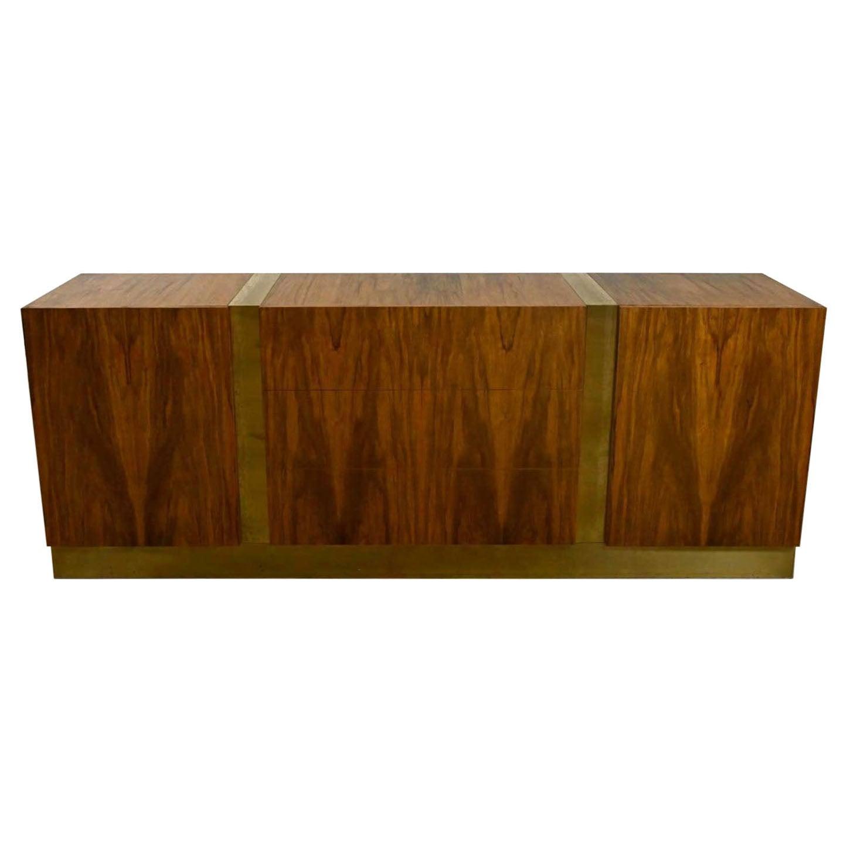 Vintage Modern Rosewood Dresser Credenza Buffet by Milo Baughman Thayer Coggin