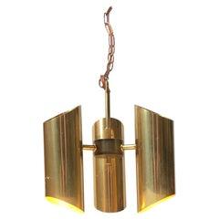 Midcentury Italian Chandelier in Brass, 1960s