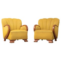 Pair of Mogens Lassen Style Danish Midcentury Lounge or Club Chair, 1940s
