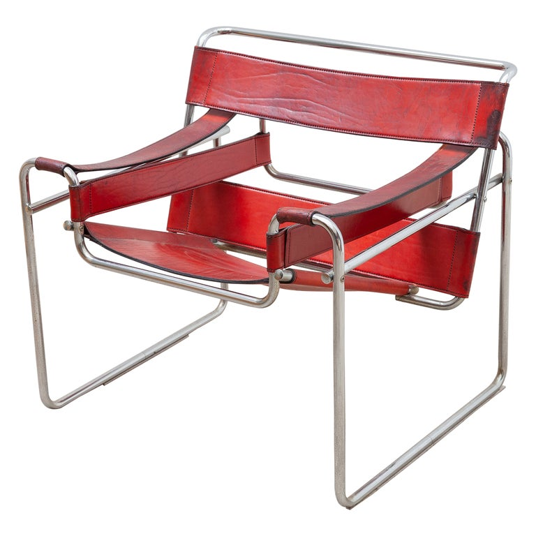 Wassily Lounge Chair, Side Chair by Marcel Breuer For Sale