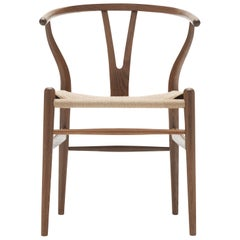 CH24 Wishbone Chair in Oak Smoked Stain & Natural Papercord Seat by Hans Wegner