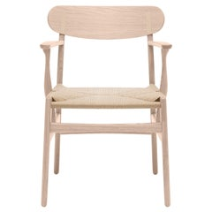 CH26 Dining Chair in Oak Soap with Natural Papercord Seat by Hans J. Wegner
