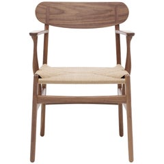 CH26 Dining Chair in Walnut Oil with Natural Papercord Seat by Hans J. Wegner