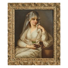 Fine Berlin 'KPM' Porcelain Plaque of A Vestal Virgin