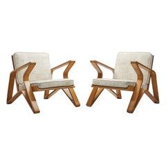 Rare De Coene Frères Lounge Chairs, Belgium 1950s